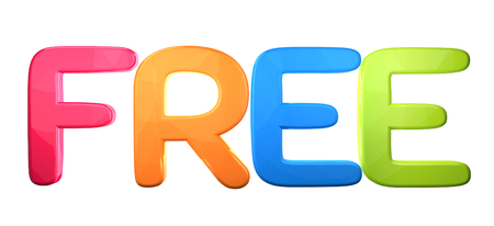 Free 3d rendering isolated bold letters Stock Photo