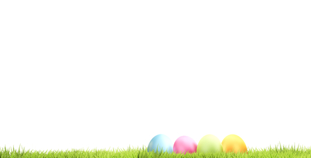 Easter eggs 3d rendering Stock fotó