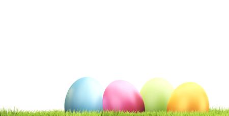 easter eggs 3d rendering