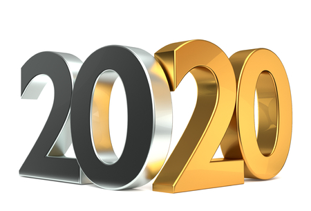 2020 gold 3d rendering
