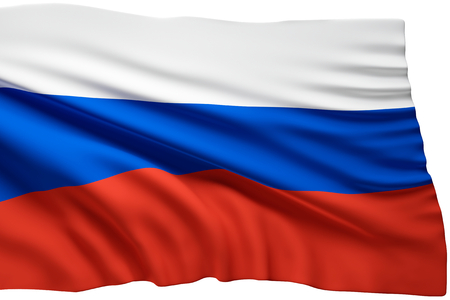flag of Russia 3d rendering