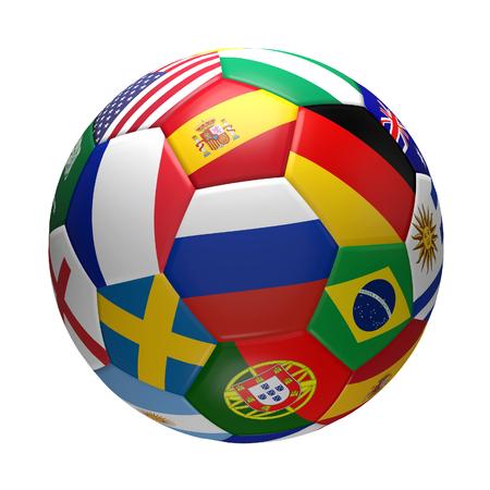 soccer ball 3d rendering Stock Photo