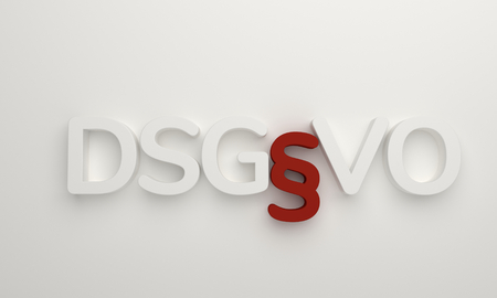 DSGVO 3d rendering white
