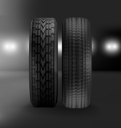 car tires 3d illustration Stockfoto - 101151999