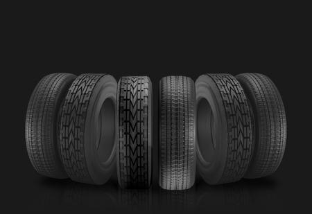car tires 3d illustration Stockfoto - 100769357