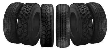 car tires 3d illustration Stockfoto - 100755194