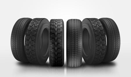 car tires 3d illustration
