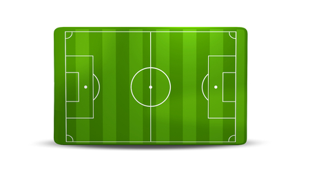 soccer field 3D illustration isolated