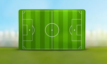 soccer field 3D illustration