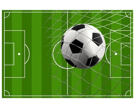soccer field soccer ball 3d illustration