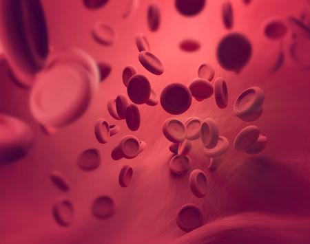 rendering 3D di cellule del sangue Archivio Fotografico