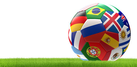 soccer football ball 3d rendering Stockfoto