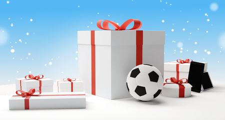 christmas gifts 3d rendering