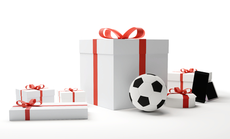 gifts 3d rendering Stock Photo