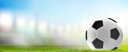 soccer ball soccer stadium 3d rendering Stock Photo