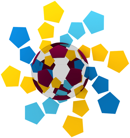 abstract Qatar soccer ball symbol