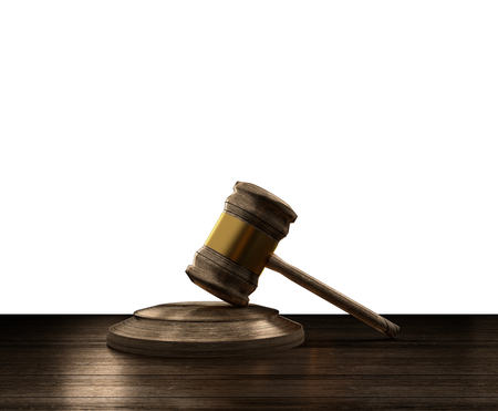 wooden judge gavel 3d-illustration