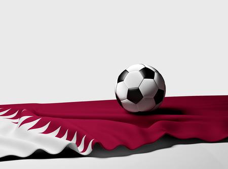 Qatar soccer ball 3d-illustration Stock Photo