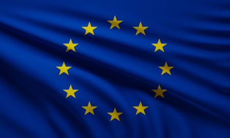 flag of Europe background 3d-illustration