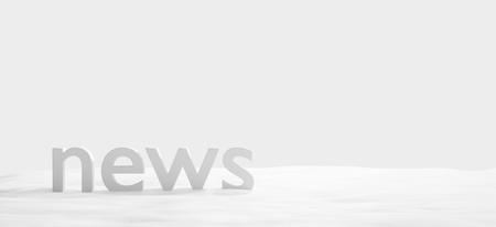 news bold letters background 3d-illustration Stock fotó
