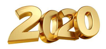 2020 bold letters 3d-illustration Фото со стока