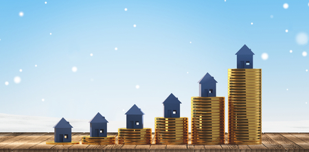 rising house prices 3d-illustration 写真素材