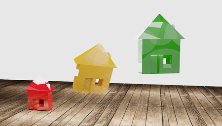 house red yellow green 3d-illustration