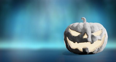Halloween pumpkin white 3d-illustration