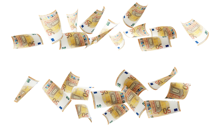 50 euro banknotes 3d-illustration