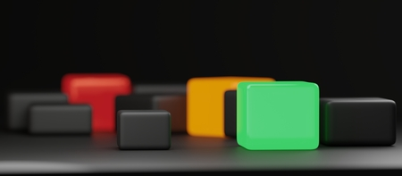 red orange green abstract creative cubes design background Stok Fotoğraf - 114343981