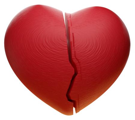 red heart 3d-illustration Stock Photo