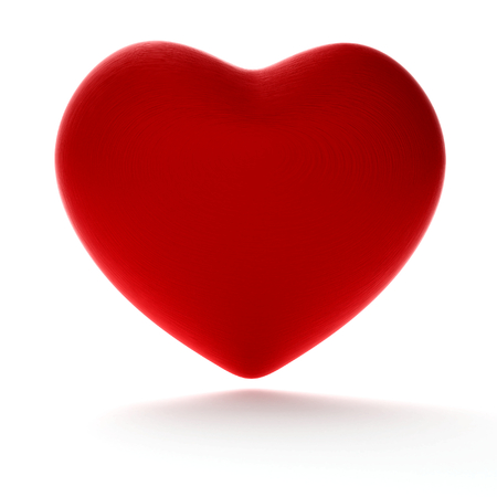 red heart 3d-illustration Standard-Bild
