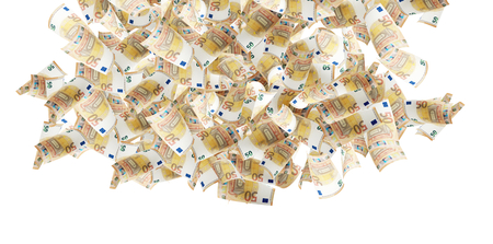 cash money rain 3d-illustration Stock Photo