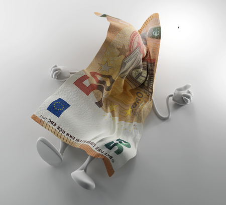 money concepts. falling Euro currency. 3d-illustration
