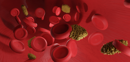 blood and intruders 3d-illustration Фото со стока