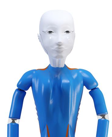 autonomous artificial intelligence robot 3d-illustration