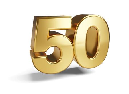 50 Symbol 3D-Darstellung