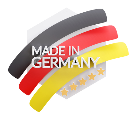 made in Germany 3d-illustration 免版税图像