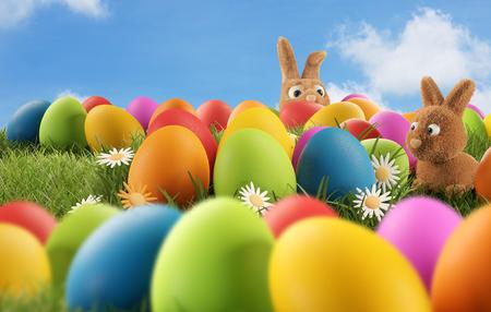 Easter eggs 3d-illustration