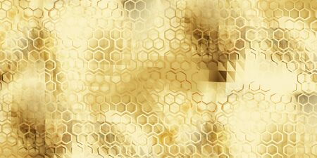 golden creative abstract background 3d-illustration