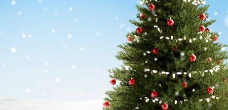 Christmas tree 3d-illustration