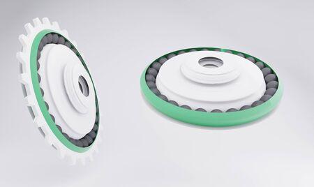 Ball bearings or roller bearings object 3d-illustration