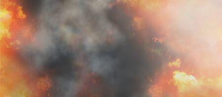 fire flames dark background vibrant flames 3d-illustration Banco de Imagens
