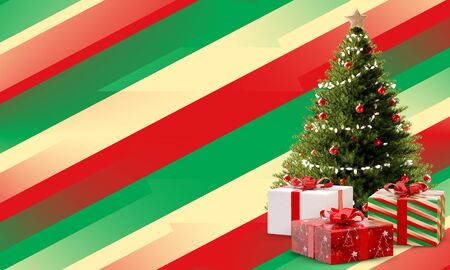creative abstract christmas background modern festive colored design 3d-illustration