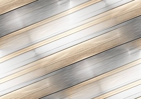 seamless metallic creative background 3d-illustration golden striped Stock fotó - 133974649