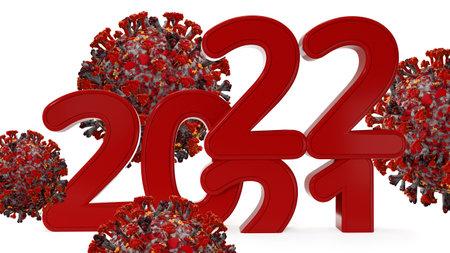2022 virus cell symbolic infection 3d illustration 版權商用圖片