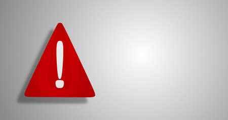 3d illustration red warning sign design