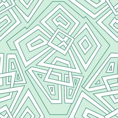 pale green: Detailed seamless geometric pattern in pale green tones. Colorful geometric pattern. Seamless pattern, background, texture. Vector ornament. Decorative tiles.