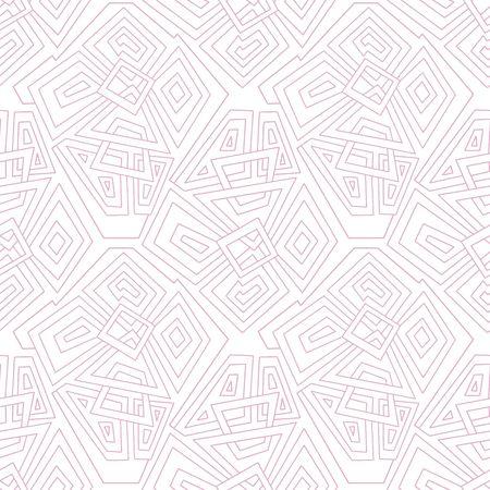 seamless pattern background: Lineare geometrische nahtlose Muster hellrosa. Nahtlose Muster, Hintergrund, Textur. Vector ornament. Dekorative Fliesen. Illustration