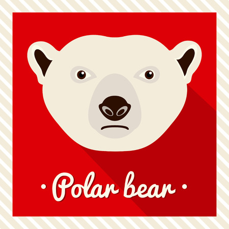 361 Polar Bear Flat Icon Stock Vector Illustration And Royalty ...